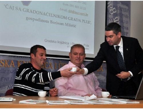 Čaj sa gradonačelnikom Grada Pule gospodinom Borisom Miletić
